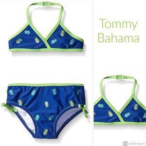 Tommy Bahama Pineapple 2 Piece Bikini Swimsuit 6x
